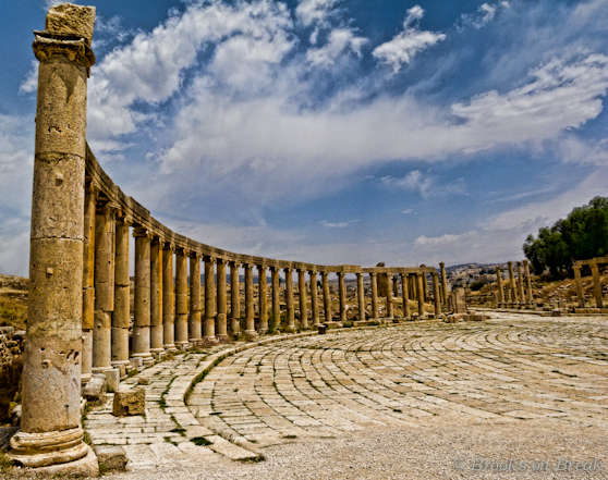 While settled over 5000 years ago, Jerash came of age during the Greco-Roman period and was also known as Antioch on the Golden River.